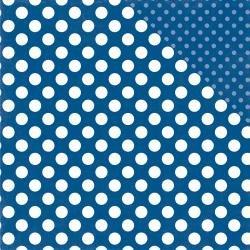 Dots & Stripes - Blue Lagoon Dot - 12x12 Double-Sided Paper (Echo Park)