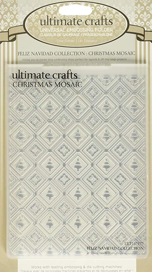 Embossing Folder - Christmas Mosaic 4 x 6 (UC)