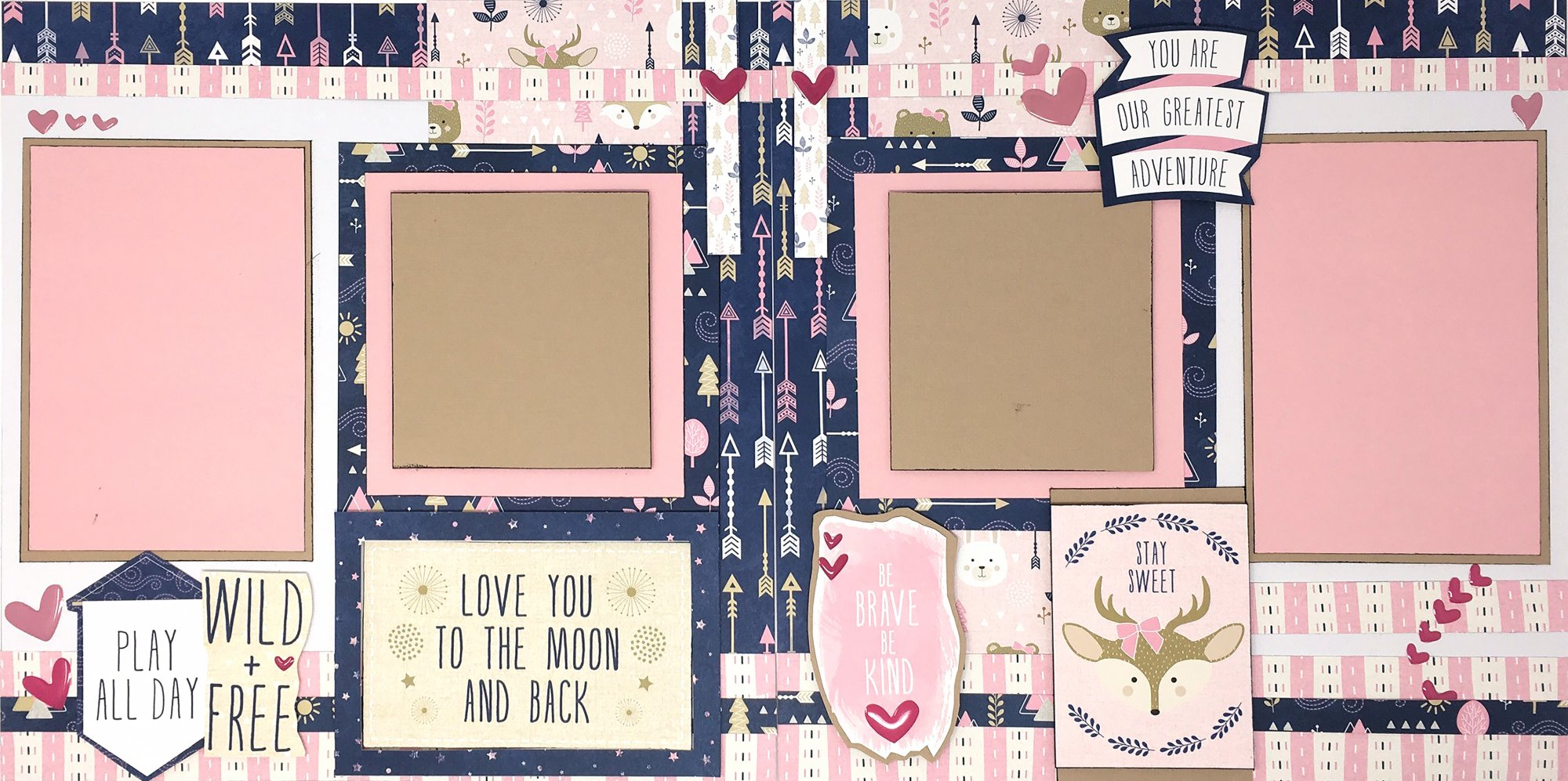 Layout Kit - Be Brave and Kind (BB)
