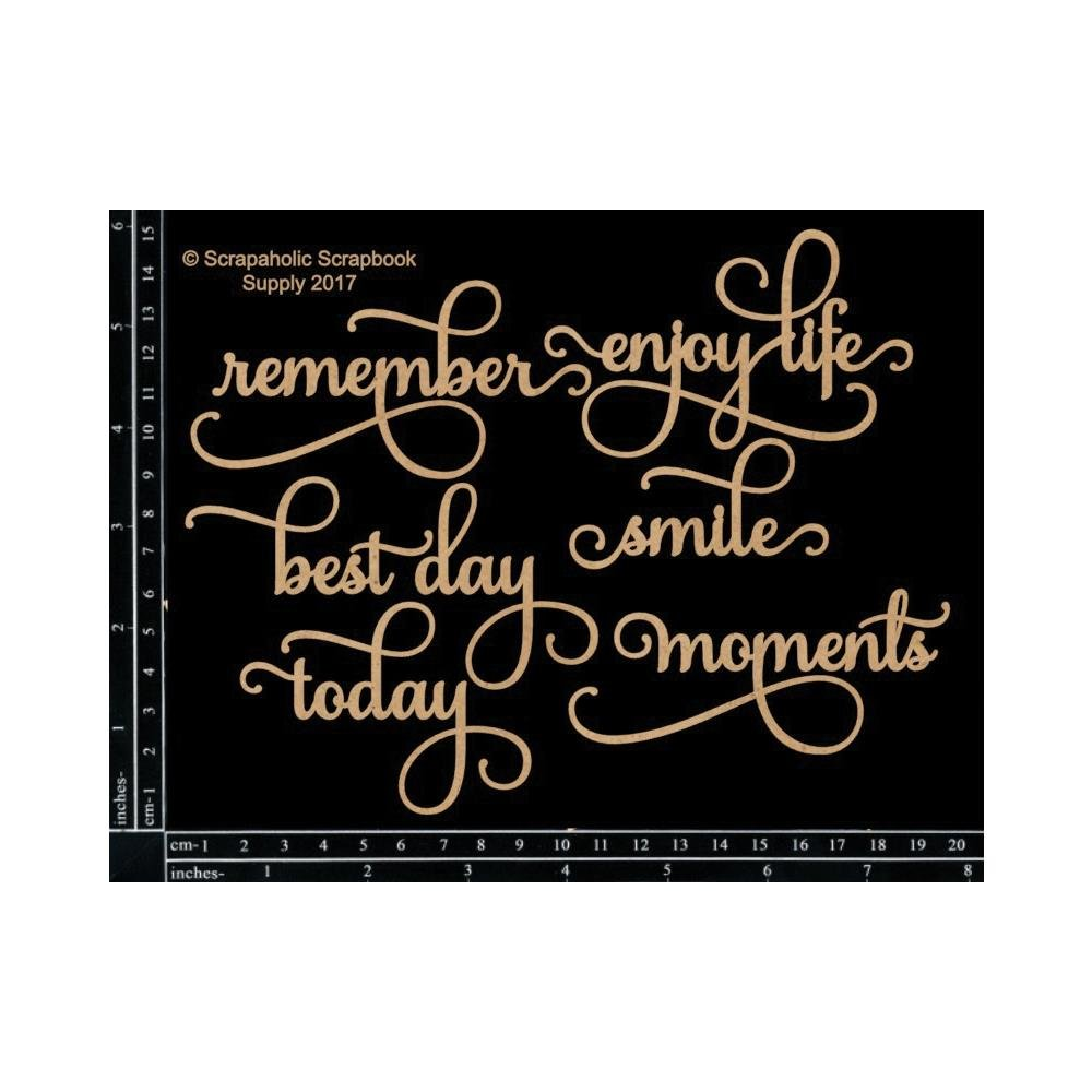 Words - Chipboard Life Moments Script