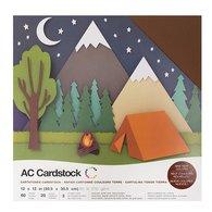 Cardstock - Earth Tones Assortment, 60/pk - 12x12 Textured (American Crafts)