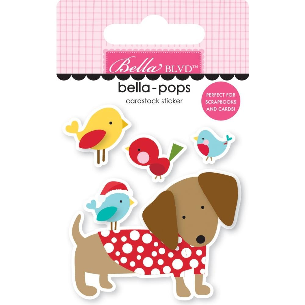 Stickers - Santa Squad Bella Pops - Dachshund Through the Snow  (BBLVD)