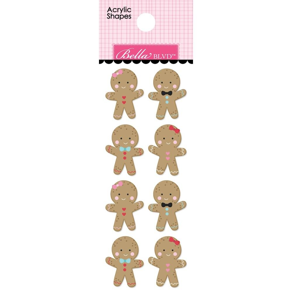 Stickers - Santa Squad Acrylic Shapes Gingerbread (BBLVD)