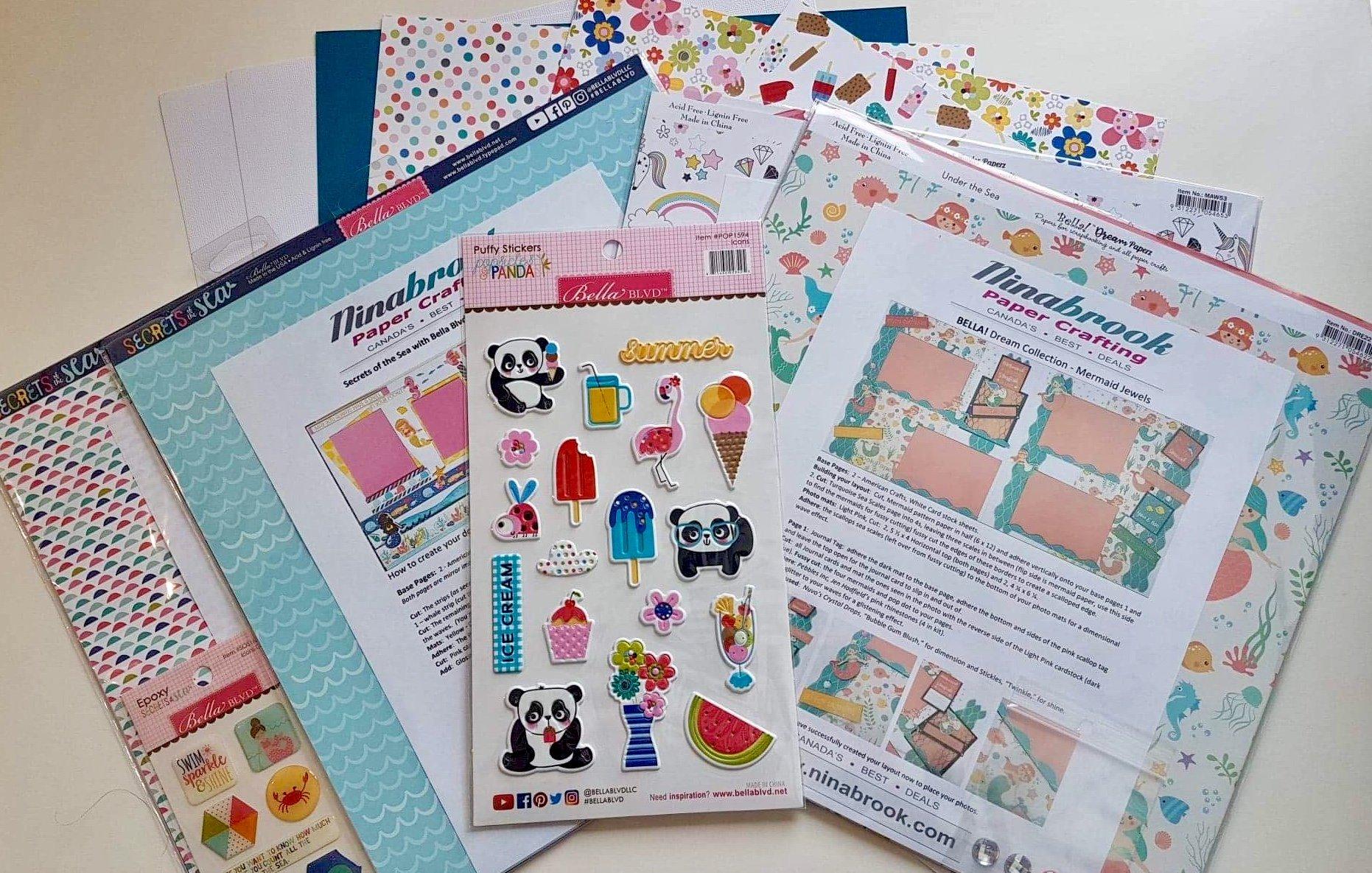 Scrappin' Bag - Ninabrook's Summer Kit Variety