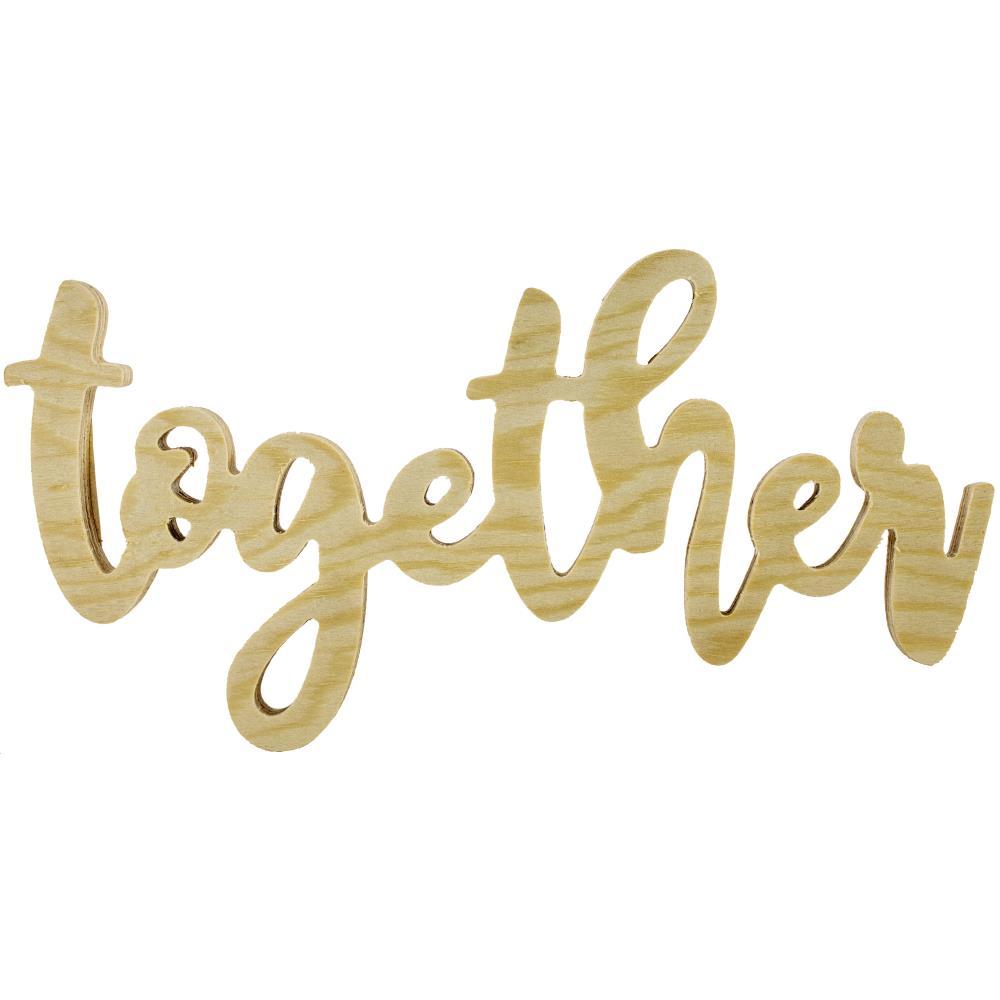 Mixed Media - Together wooden word (HA)