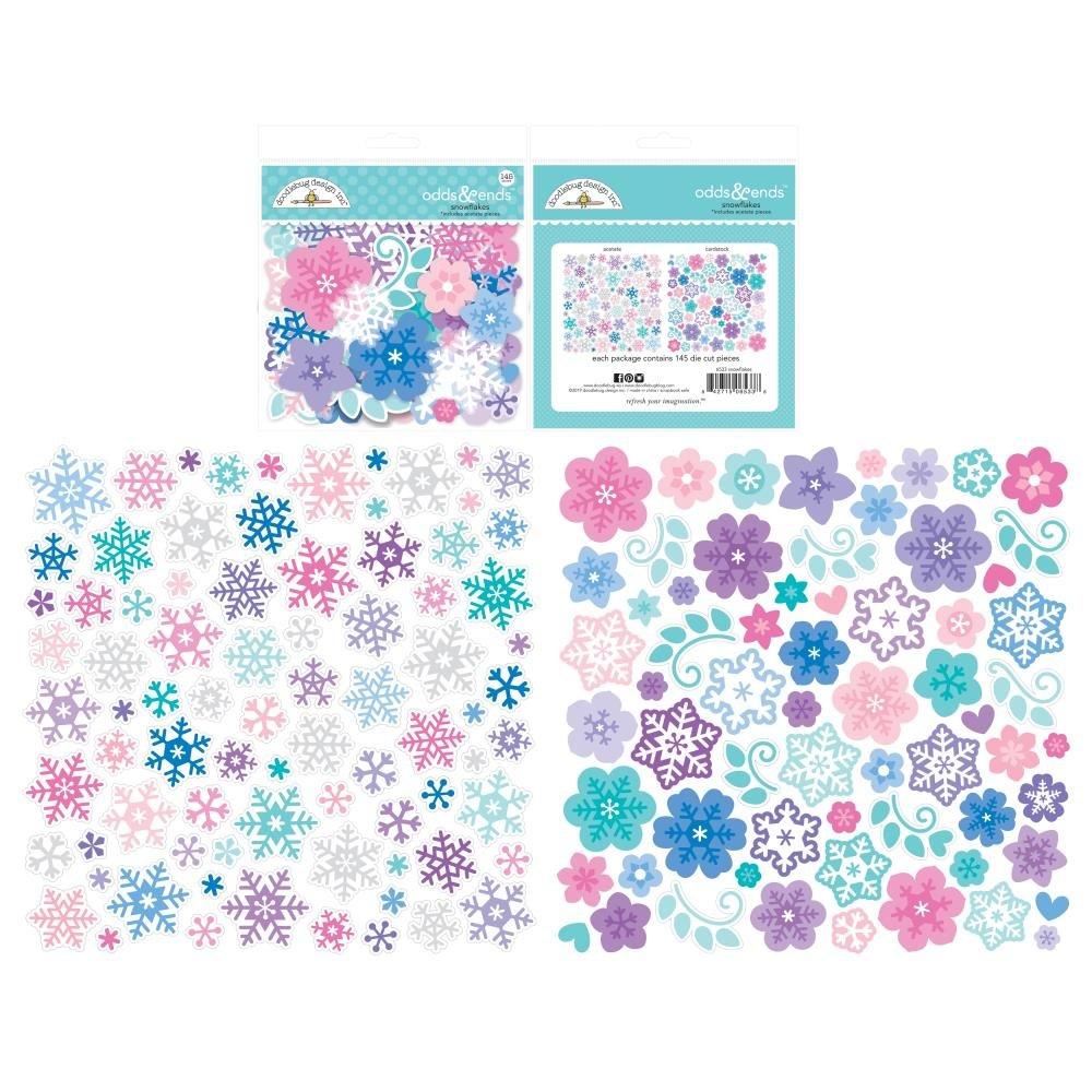 Doodlebug Winter Wonderland - Snowflakes Odds & Ends Die-Cuts - 145/Pkg