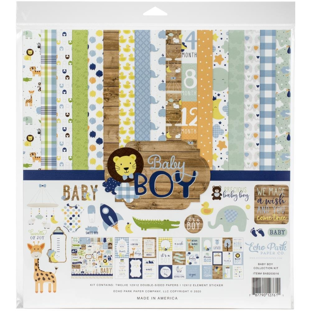 Echo Park Baby Boy - 12x12 Collection Pack