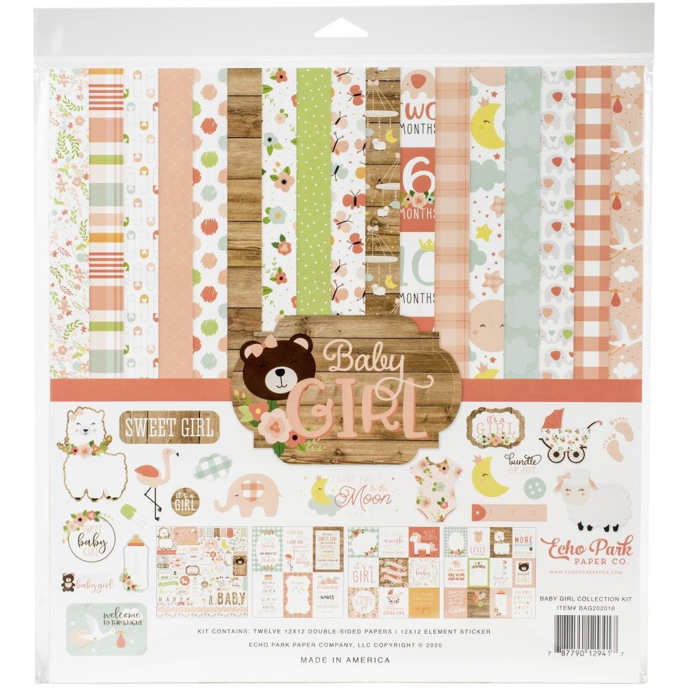 Echo Park Baby Girl - 12x12 Collection Pack