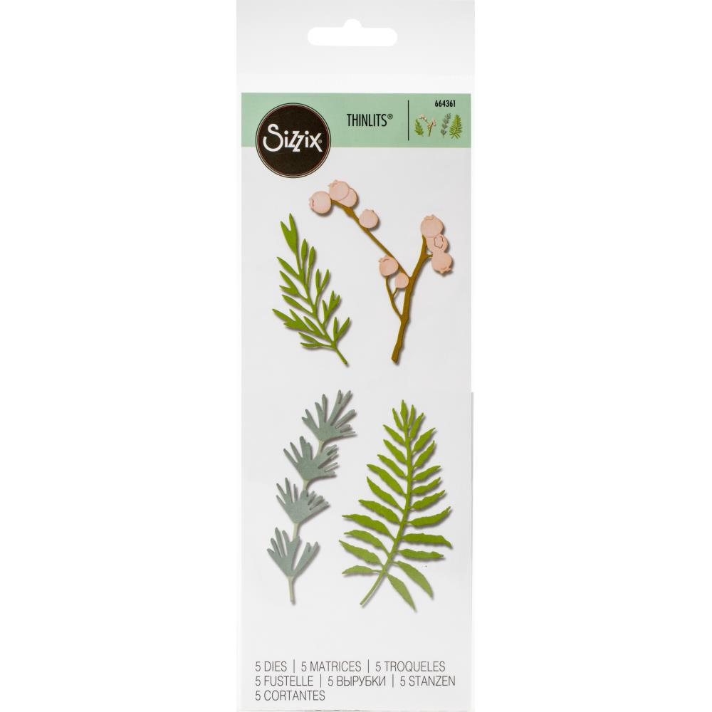 Sizzix Thinlits Dies - Natural Leaves