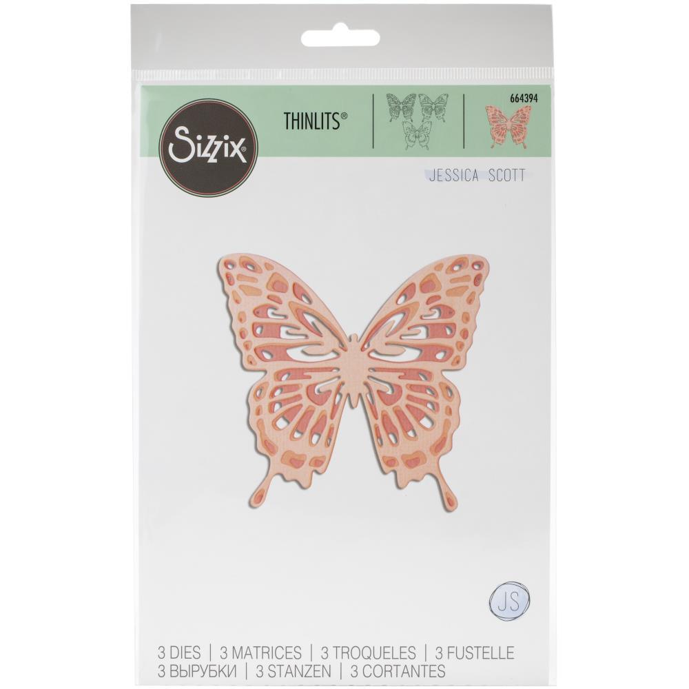 Sizzix Thinlits Dies - Intricate Wings (Jessica Scott)