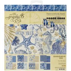 Graphic 45 Ocean Blu - 8x8 Paper Pad