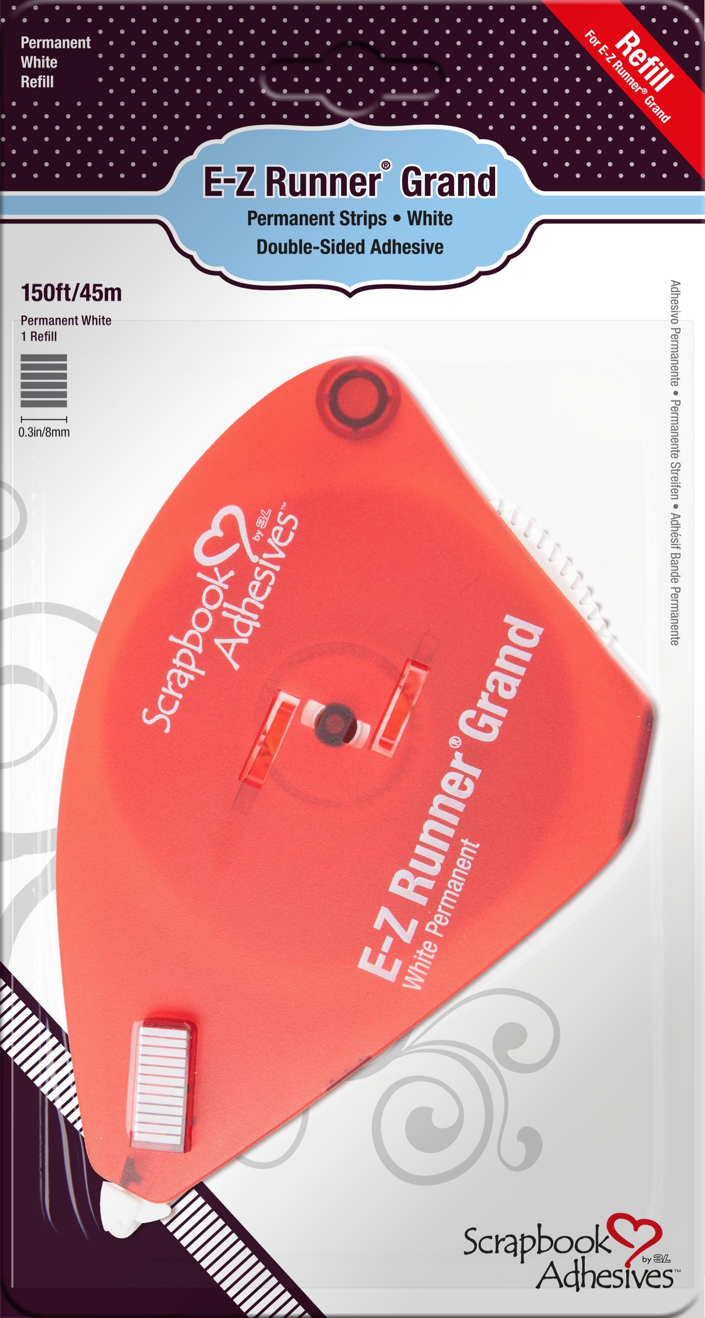 E-Z Runner Grand Permanent Strips - Refill, 150'/45m