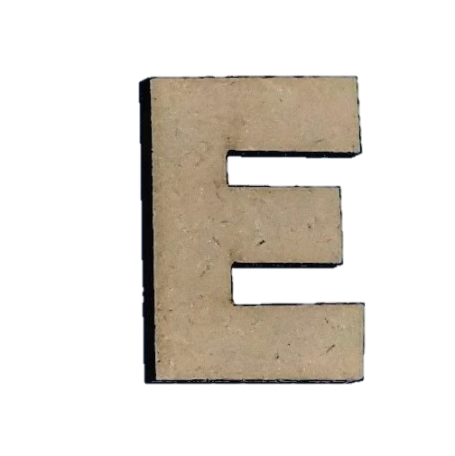 ^Foundations Decor - Wood Letters - 'E', 2/Pkg (CLEARANCE)