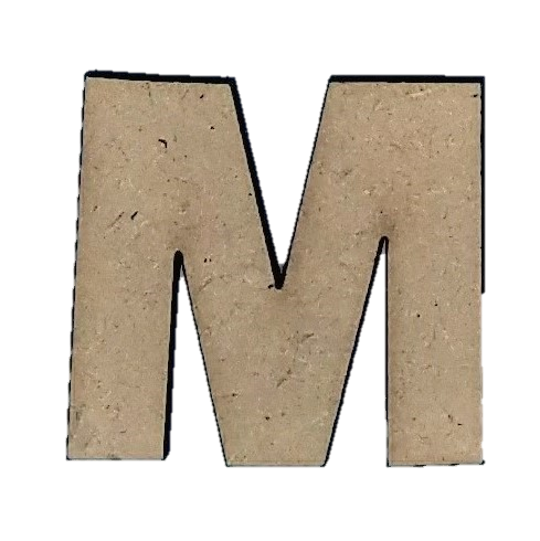 ^Foundations Decor - Wood Letters - 'M', 2/Pkg (CLEARANCE)
