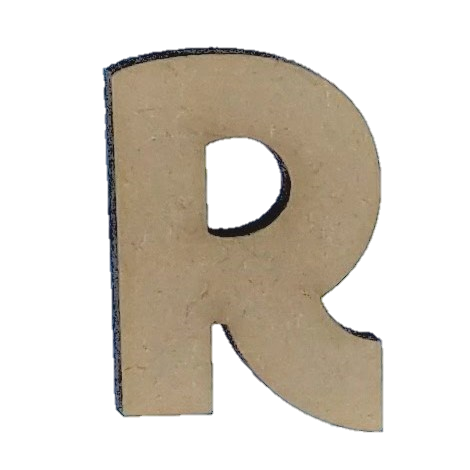 Foundations Decor - Wood Letters - 'R' (2/Pack)