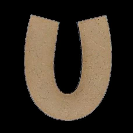 ^Foundations Decor - Wood Letters - 'U', 2/Pkg (CLEARANCE)