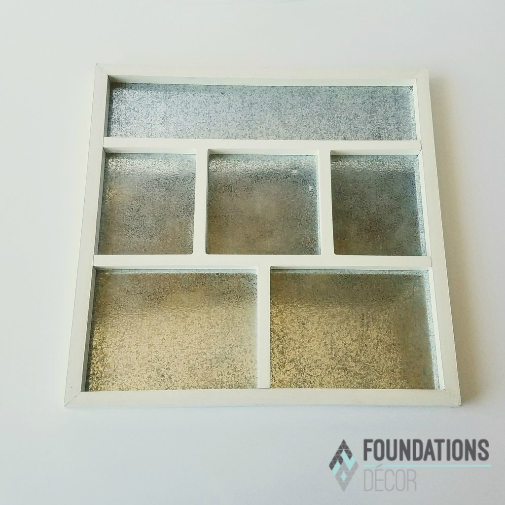 Foundations Decor - Magnetic Shadow Box, White