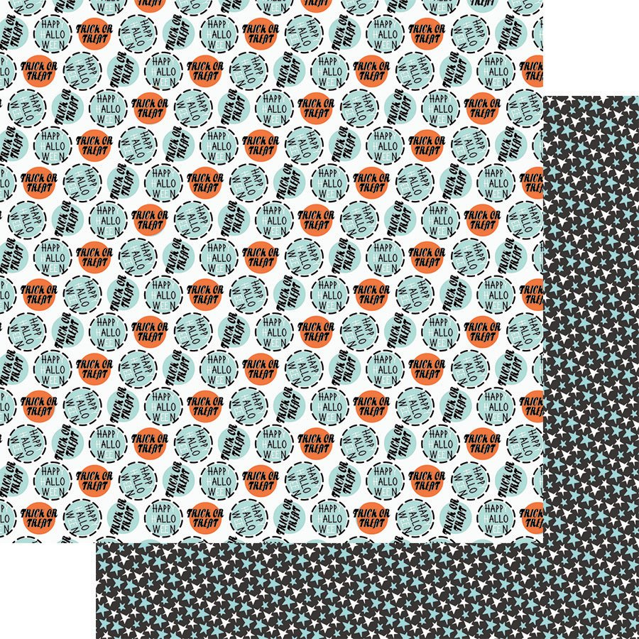 ^Howl 12x12 Double-Sided Paper - Trick or Treat (Fancy Pants)