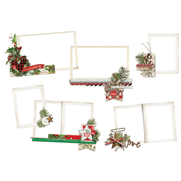Simple Stories Simple Vintage Christmas - Layered Frames