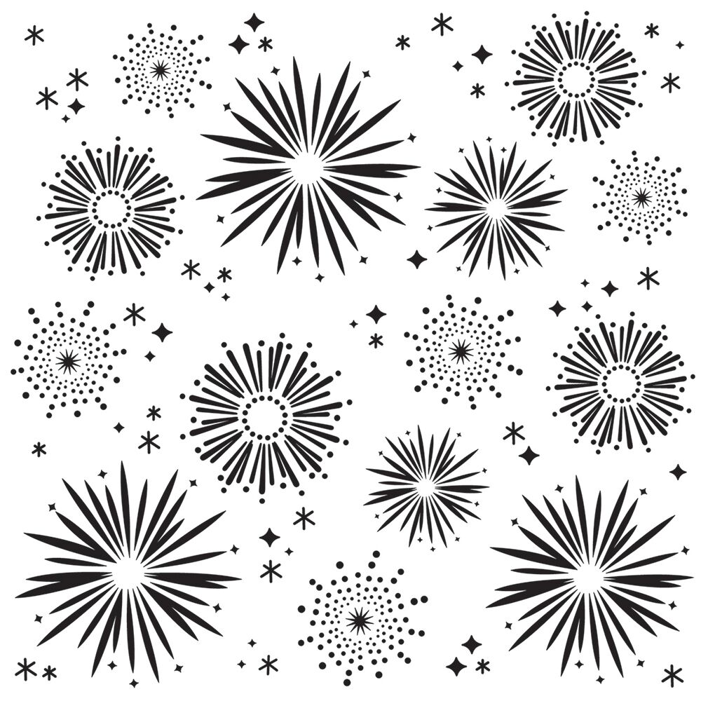 Simple Stories - Say Cheese 4 - Fireworks Stencil