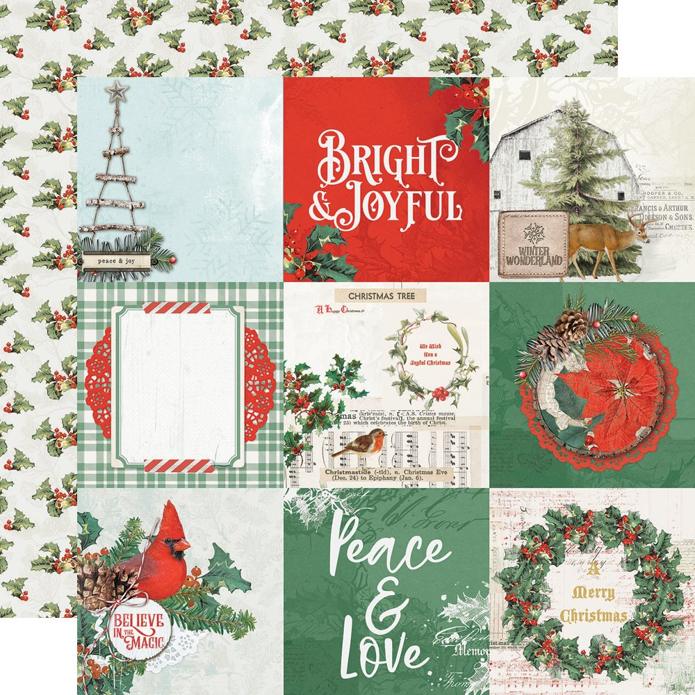 Simple Stories Country Christmas - 4x4 Elements