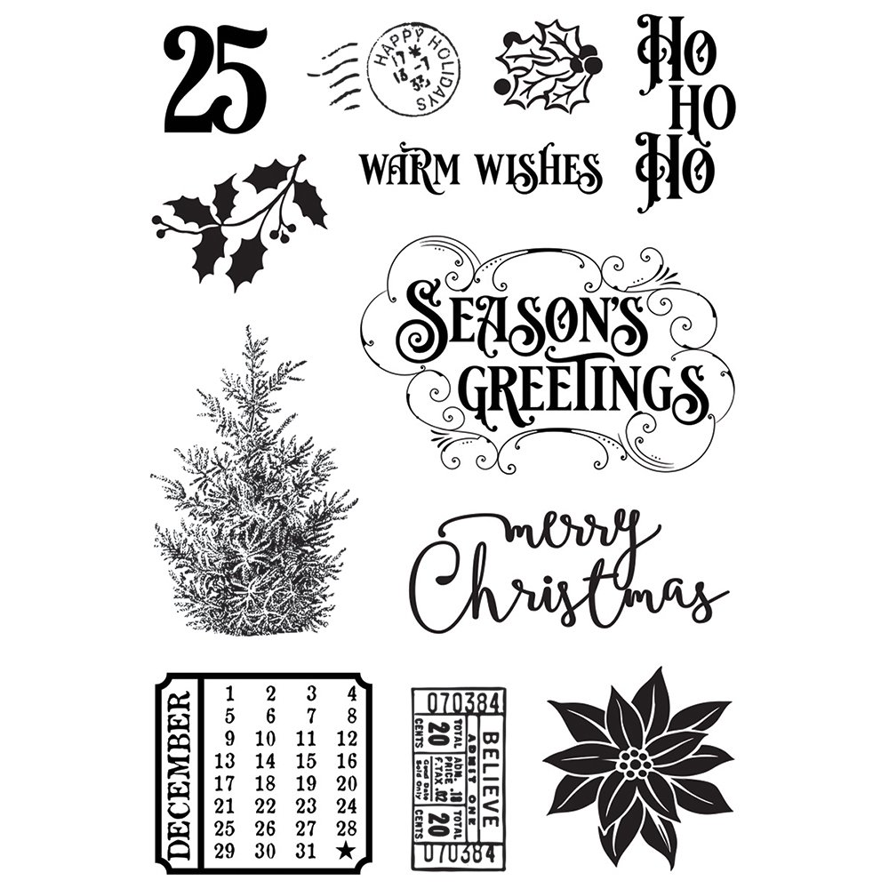 Simple Stories Simple Vintage Country Christmas - Stamp Set