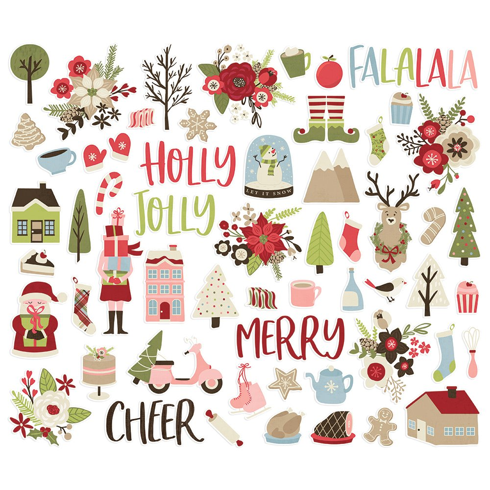 Simple Stories Holly Jolly - Bits & Pieces