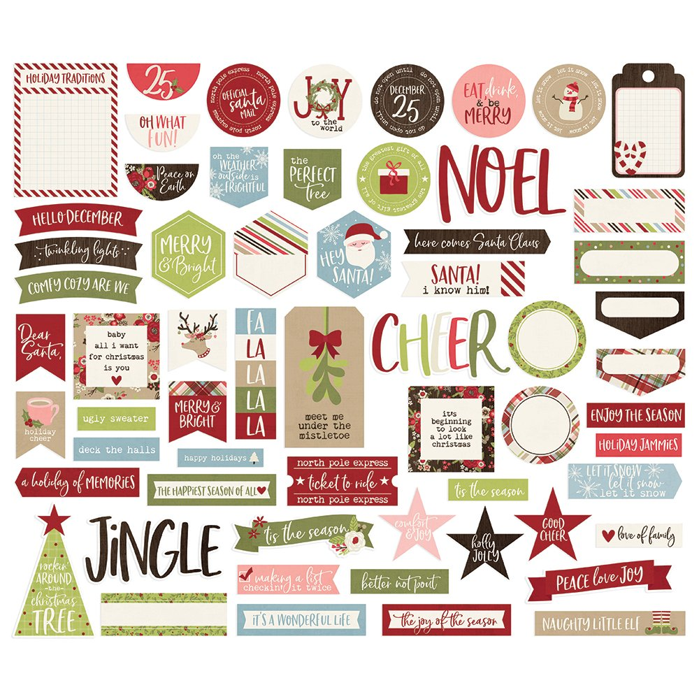 Simple Stories Holly Jolly - Journal Bits & Pieces