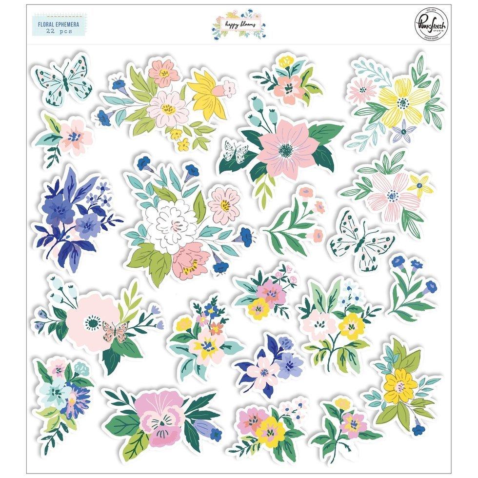 PinkFresh - Happy Blooms - Floral Ephemera