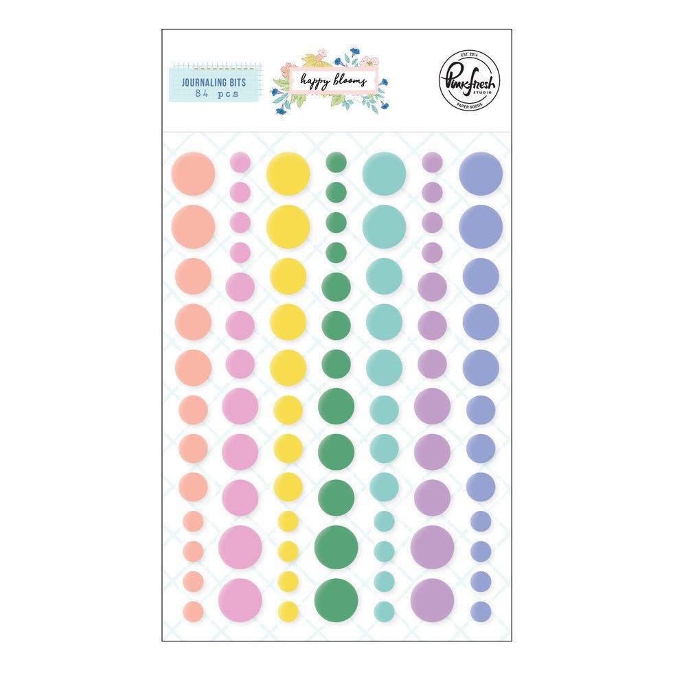PinkFresh - Happy Blooms - Enamel Dots