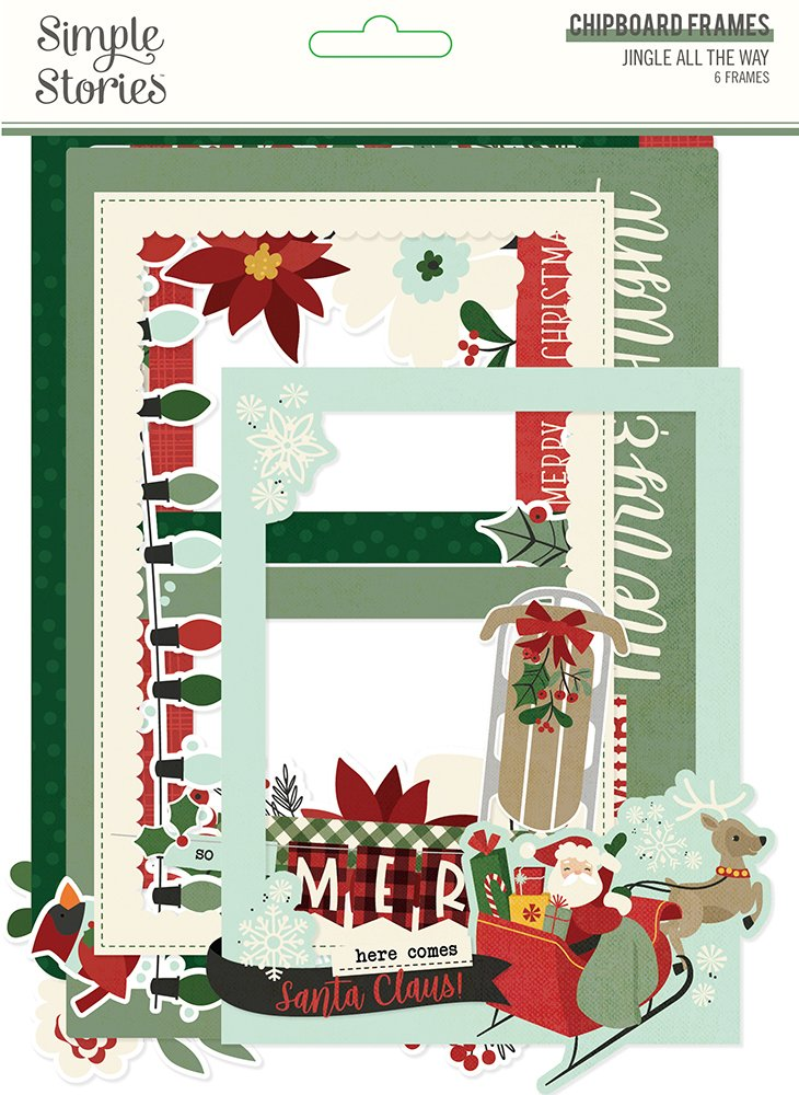 Jingle All The Way - Chipboard Frames (Simple Stories)