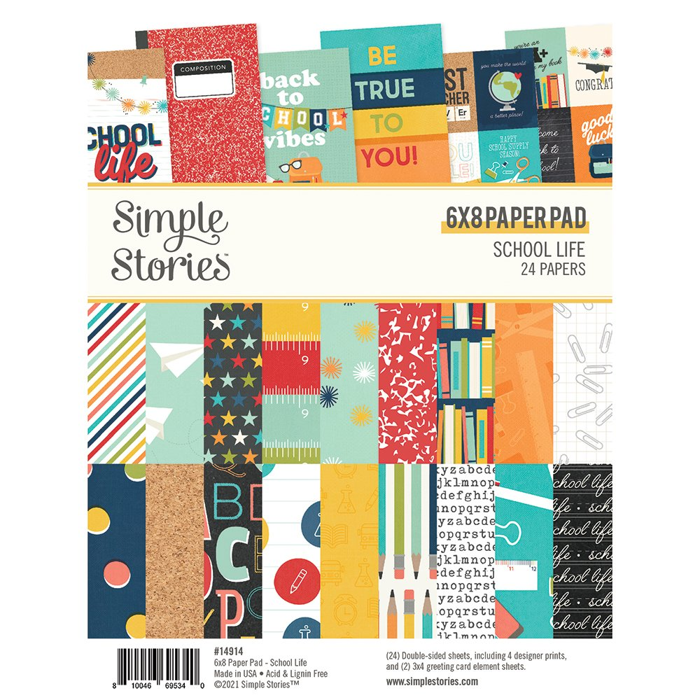 Simple Stories - School Life - 6x8 Paper Pad