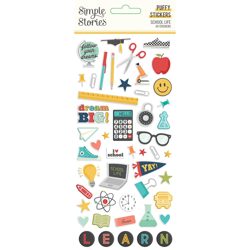 Simple Stories - School Life - Puffy Stickers
