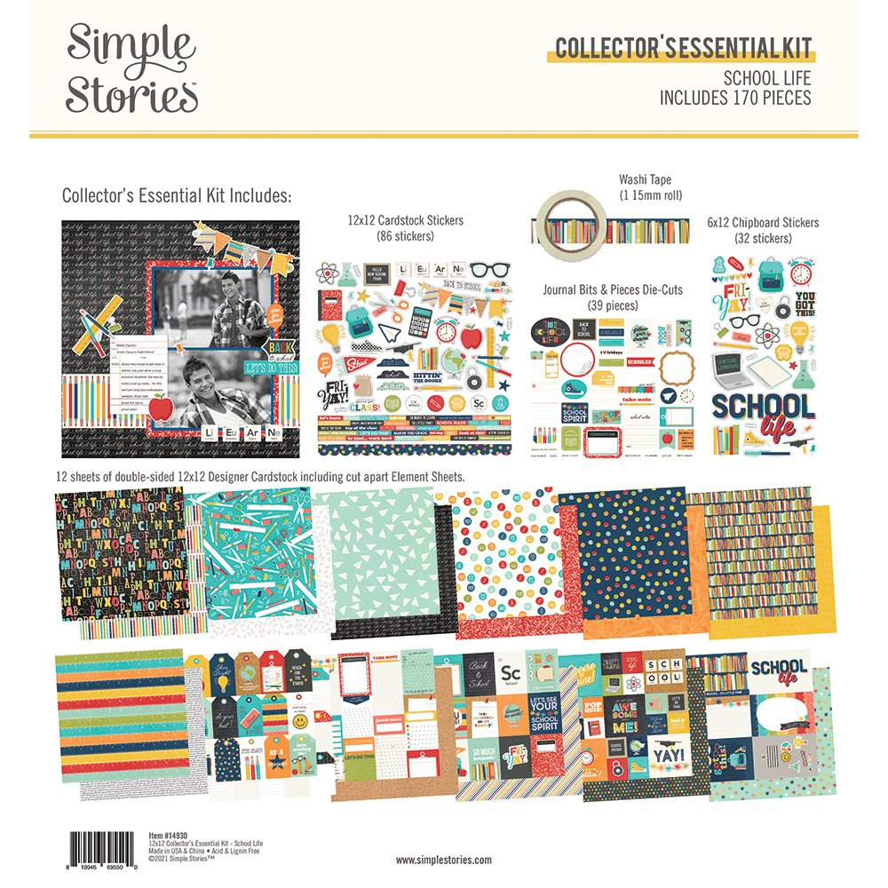 Simple Stories - School Life - Collector's Essential Kit