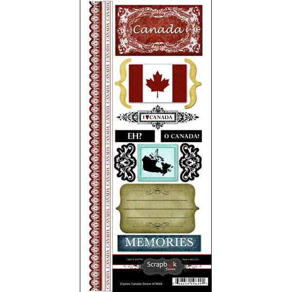 ^Scrapbook Customs - Stickers - Explore Canada