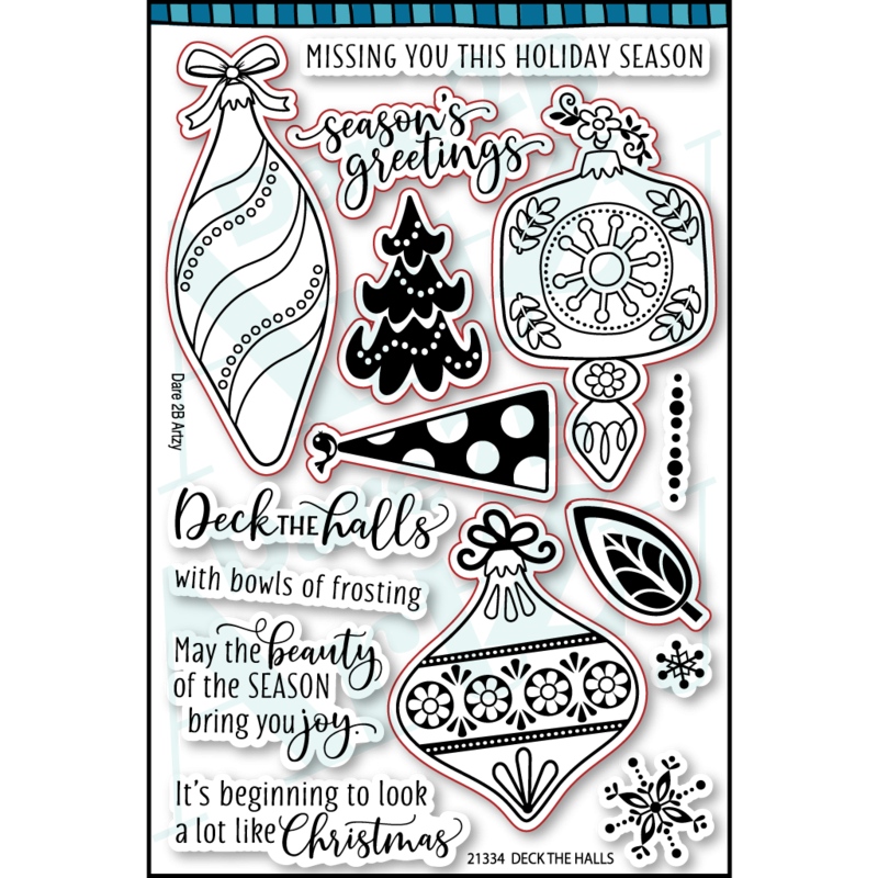 Dare 2B Artzy - Clear Stamps - Deck The Halls