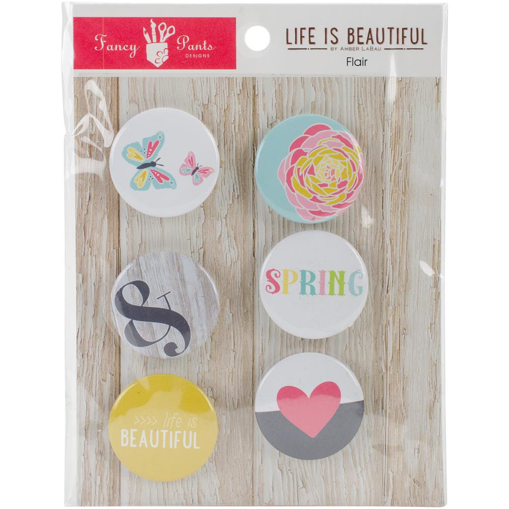 ^Fancy Pants Life is Beautiful - Flair Buttons  (CLEARANCE)