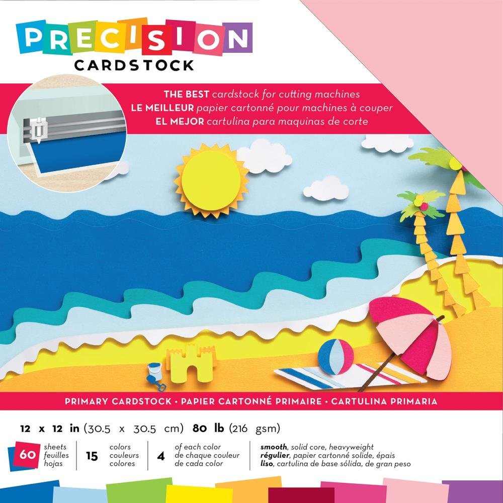 AC Precision Cardstock - 12x12 Variety Pack, Primary, Smooth, 60/pkg