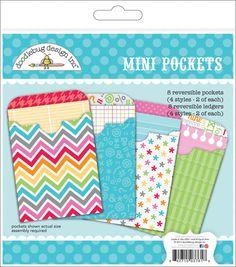 Doodlebug Take Note Paper Craft Kit - Mini Pockets