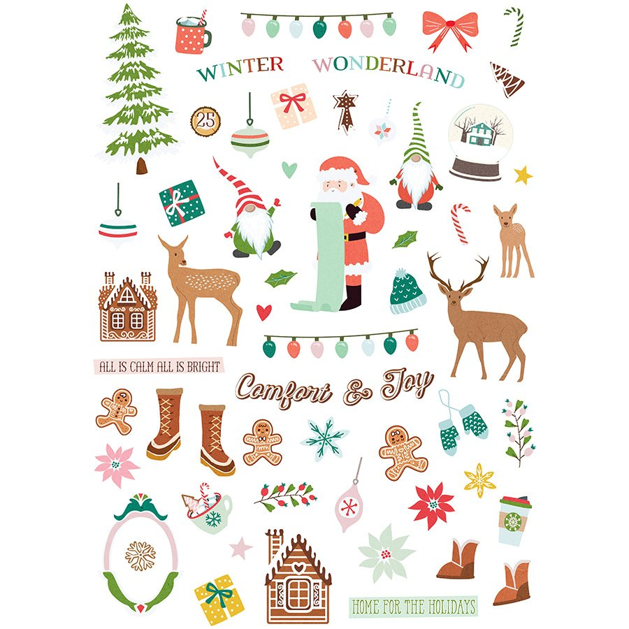 ^Home For Christmas Ephemera Cardstock Die Cuts (Fancy Pants)