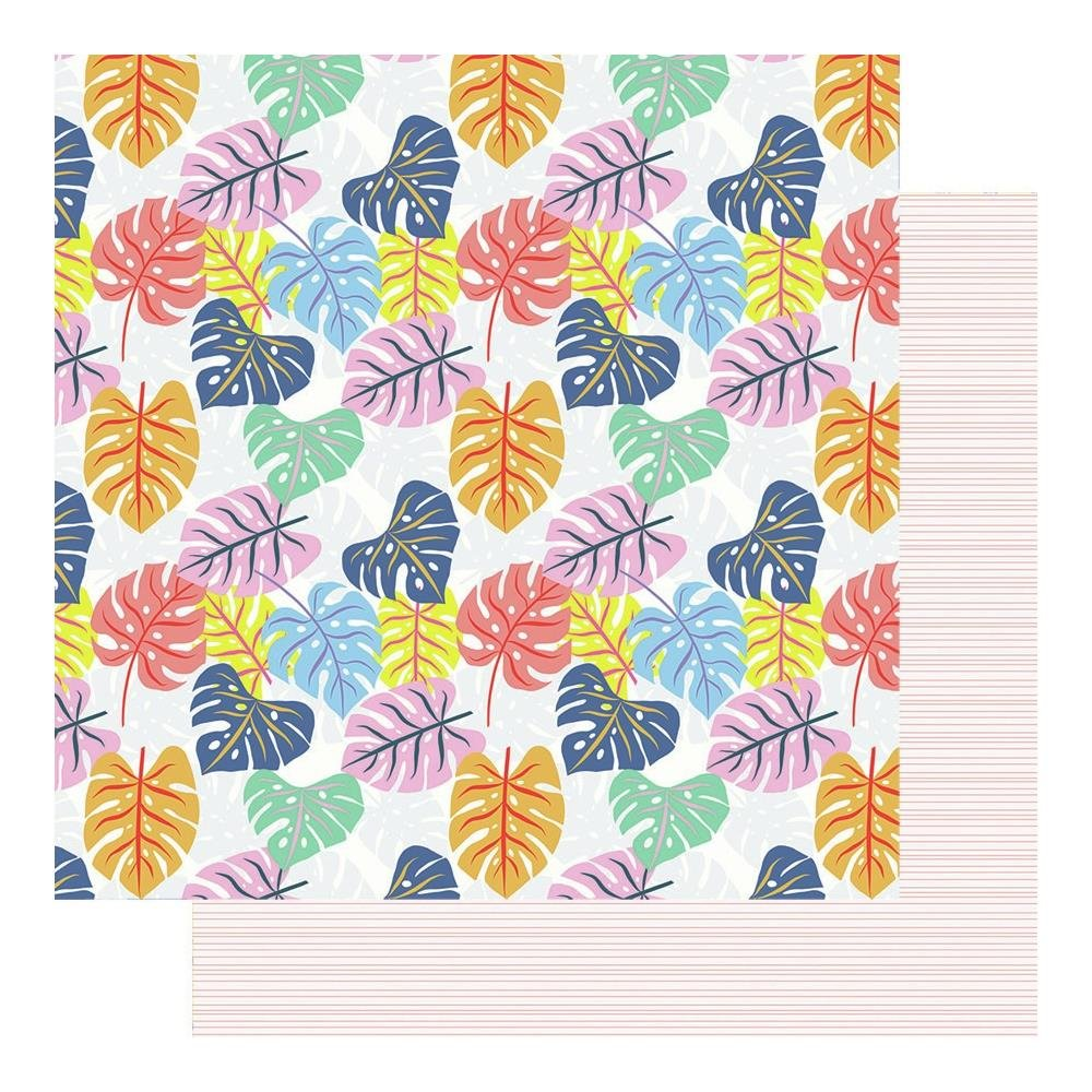 Fancy Pants Vitamin Sea - Tropical Leaves - 12x12 Double-Sided Cardstock