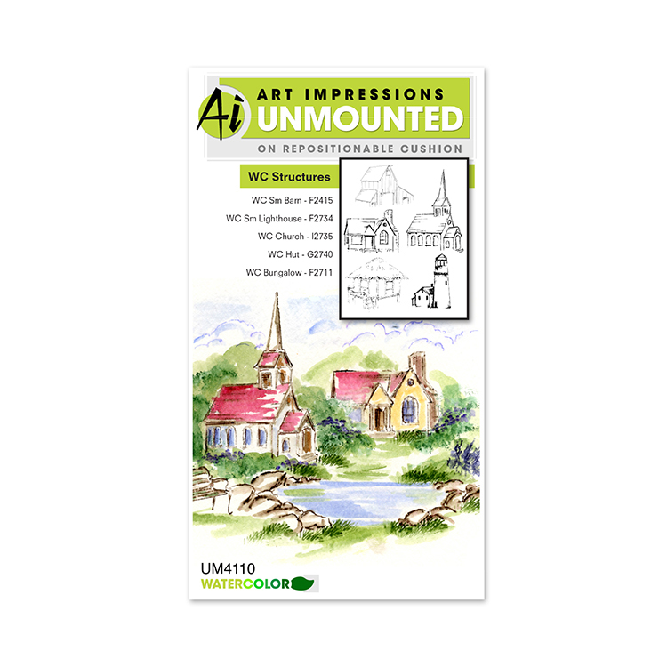 AI - Watercolor - Structures Stamp Set (UM4110)