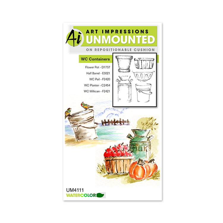 AI -  Watercolor Stamps - Containers (UM4111)