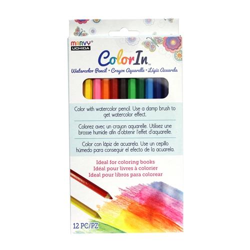 ^Color In - Watercolor Pencils 12/Pack