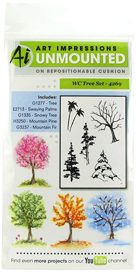 AI - Watercolor - Tree Stamp Set (4269)