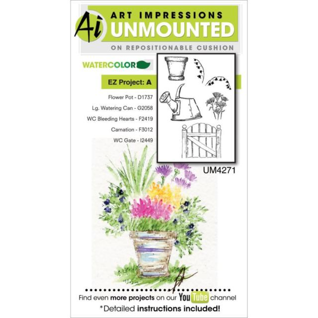 AI - Watercolor - EZ Project A Stamp Set (UM4271)