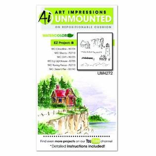 AI - Watercolor - EZ Project B Stamp Set (UM4272)
