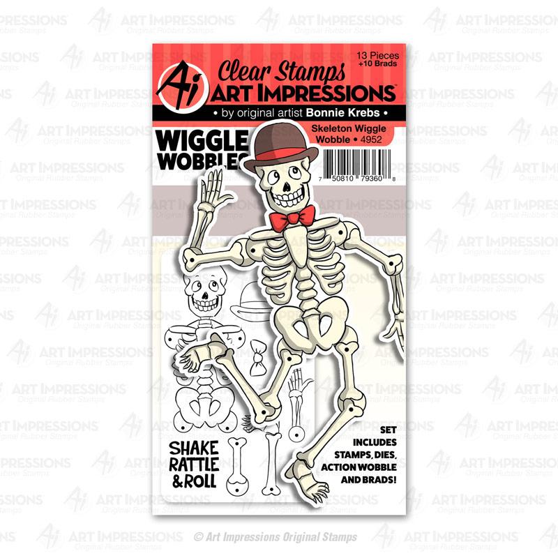 AI - Skeleton Wiggle Wobble Stamp/Die Set
