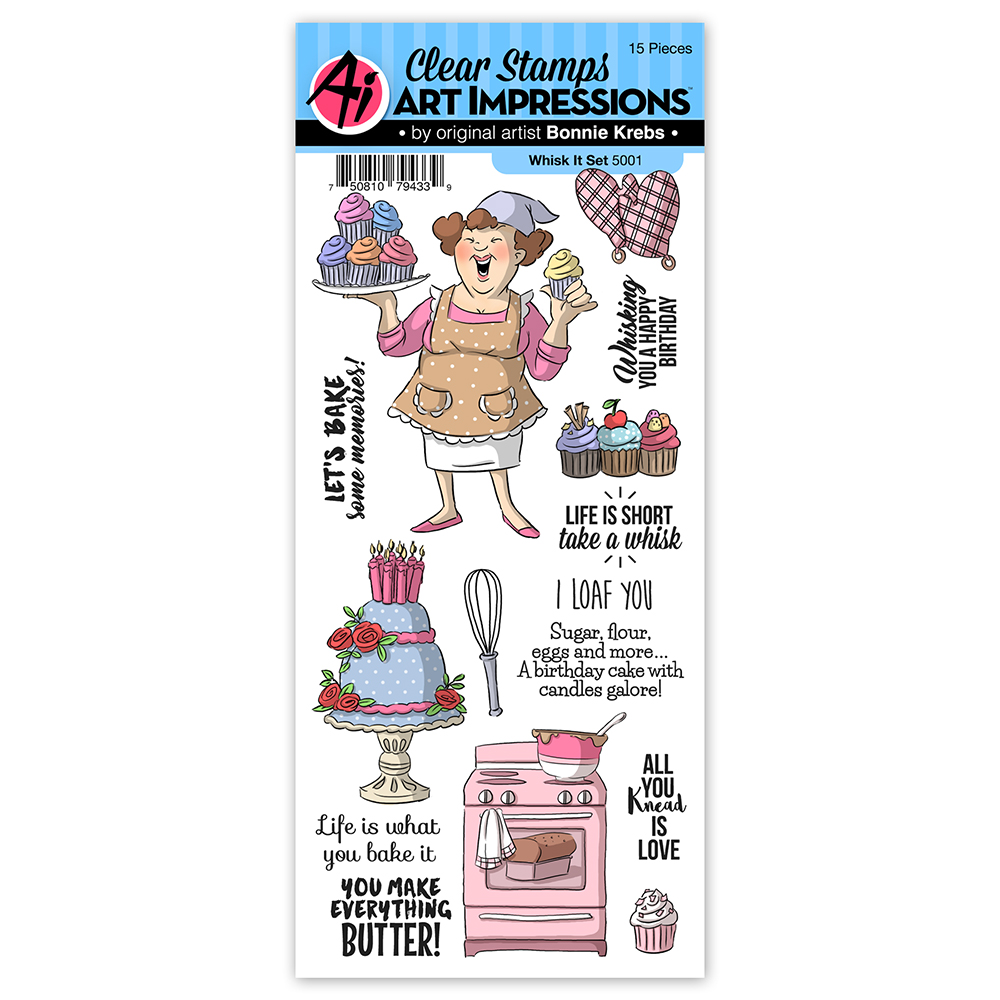 AI -  Work & Play Clear Stamps Whisk It Set (5001)