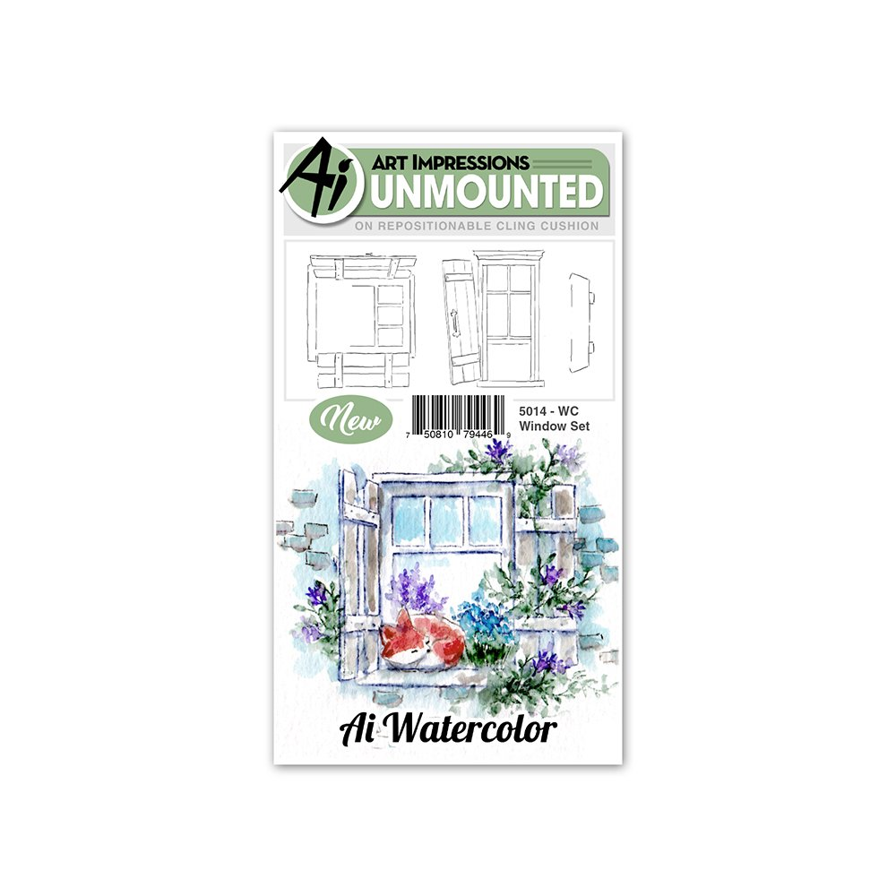^Art Impressions Watercolor Stamps - Window Set